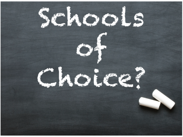 Schools of Choice Chalkboard Image