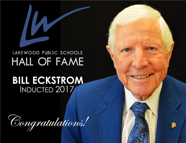 Bill Eckstrom, Hall of Fame Inductee